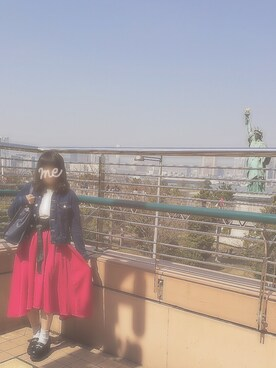 みゆしすたー☆さんの「『MORE6月号掲載商品』『CanCam5月号掲載商品』サッシュベルト付PEツイルイレヘム/スカート-2017SS-(INGNI|イング)」を使ったコーディネート