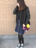 MiiiN♡さんの「MIXフェイクファークラッチバッグ【PLAIN CLOTHING】(PLAIN CLOTHING|プレーンクロージング)」を使ったコーディネート