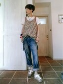 ずんこ♪さんの「半袖Tシャツ(BEAMS BOY|ジョンブル)」を使ったコーディネート