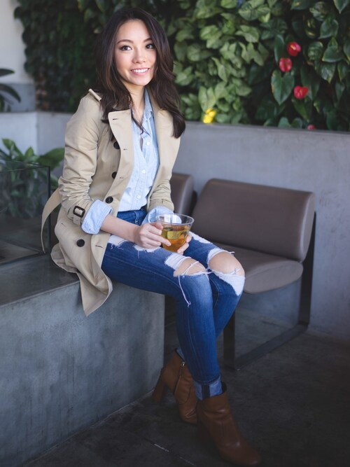 「Madewell 'Perfect' Chambray Shirt(Madewell)」 using this SK looks