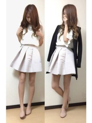 「タックシルエットスカート(snidel)」 using this MI-☆ looks