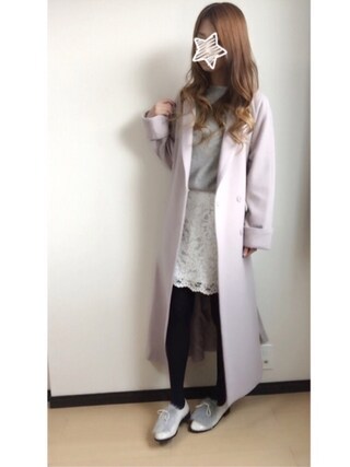 「ロングガウンコート(snidel)」 using this MI-☆ looks