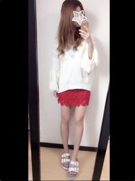 MI-☆さんの(snidel|スナイデル)を使ったコーディネート
