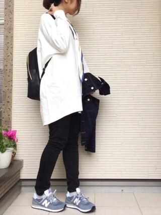 maho...さんの「フレームひし形スカーフ(ikka|イッカ)」を使ったコーディネート