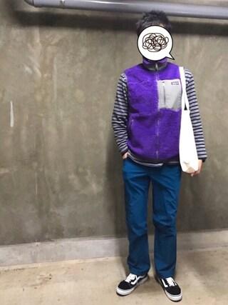 psychotogenさんの「□Patagonia / Classic Retro-X Vest(BEAMS|ビームス)」を使ったコーディネート