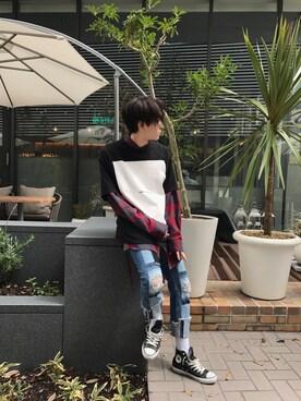 Lui's HEP FIVE店|こみやよしきさんの(FACETASM|ファセッタズム)を使ったコーディネート