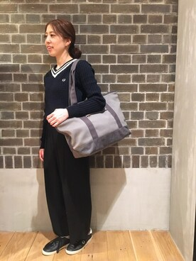 FRED PERRY 名古屋パルコ|tomomiさんの「Cable Knitted Sweater(FRED PERRY)」を使ったコーディネート
