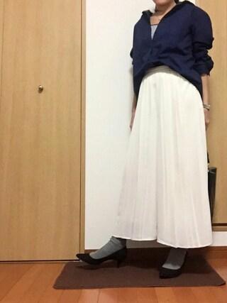 す ーさんの「靴下屋/ 毛混2×2リブショートソックス(靴下屋|クツシタヤ)」を使ったコーディネート