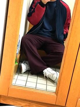 夢希也さんの「裏毛クルーネックプルオーバー(UNITED TOKYO)」を使ったコーディネート