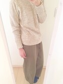 「Plait cable knit mockneck sweater(GAP)」 using this m o m o looks