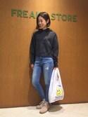 Kyoko Ozawaさんの「USAバンダナ付きスリムテーパードデニム(FREAK'S STORE|フリークスストア)」を使ったコーディネート