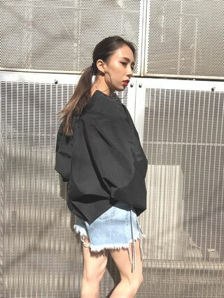 EMODA渋谷109店 武村 沙愛さんの「ショートボリューム MA-1(EMODA エモダ)」を使ったコーディネート