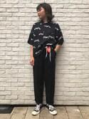 Kanna  Hayashiさんの「XGRRRL LOGO COIN CASE(X-girl|エックスガール)」を使ったコーディネート