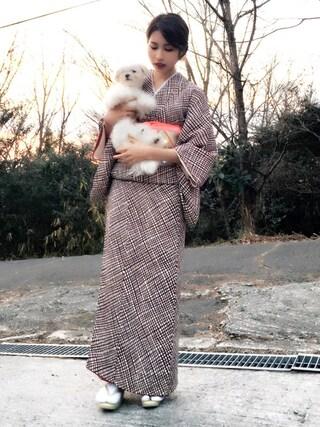 Akaneさんの(祖母の着物)を使ったコーディネート
