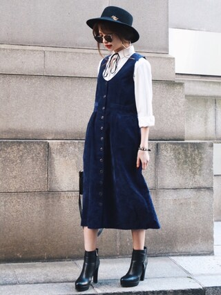 Akaneさんの「オーガニックコットンシャツ(Mila Owen ミラ オーウェン)」を使ったコーディネート