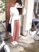 nanakoさんの「WOMEN エクストラファインメリノクルーネックセーター(長袖)+E(ユニクロ|ユニクロ)」を使ったコーディネート
