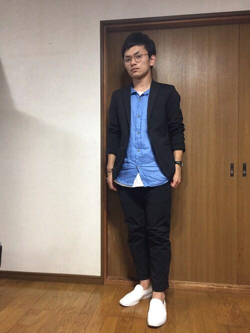 小松佑大@MBラボさんの「ドライストレッチジャケット(UNIQLO)」を使ったコーディネート