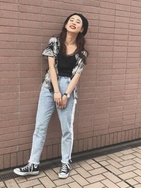 WEGO 仙台パルコ店|ともちんさんの「DISPARK/ボタニカルアロハシャツ(WEGO)」を使ったコーディネート