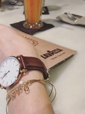 「Daniel Wellington 'Classic St. Mawes' Leather Strap Watch, 40mm(Daniel Wellington)」 using this 岩谷 英里子 looks