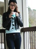 「FOREVER 21 Mid-Rise Skinny Jeans(Forever 21)」 using this lifewithbabs looks