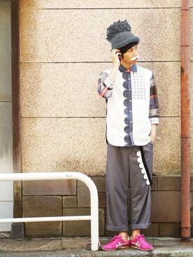 あっぷっぷさんの(ONITSUKA TIGER|オニツカタイガー)を使ったコーディネート
