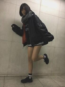 仮面女子さんの「NIKE AIR HUARACHE【SP】(NIKE ナイキ)」を使ったコーディネート