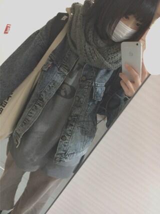 仮面女子さんの「コーデュロイタックワイドパンツ(w closet|ダブルクローゼット)」を使ったコーディネート