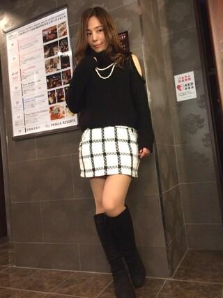 仮面女子さんの「オープンショルダーボリュームNC TOP(Lilidia|リリディア)」を使ったコーディネート