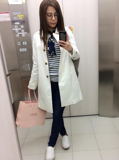 Girls Fashion Collectionさんの「【DUO】 コットンツイルAラインコート(MERCURYDUO)」を使ったコーディネート
