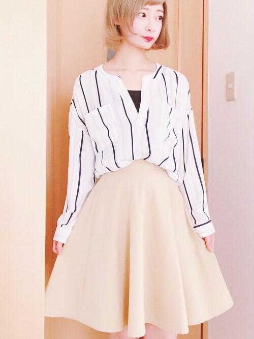仮面女子さんの「フレアスカート(PAGEBOY)」を使ったコーディネート