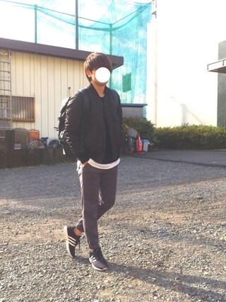 「【ZOZO限定】 STUDIOUS ミラノリブクルーネックニット - made in japan -(STUDIOUS)」 using this Hi-de looks