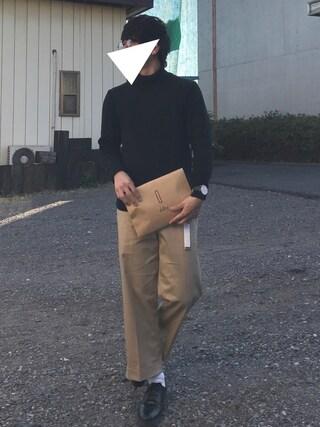 Hi-deさんの「【ZOZO限定】 STUDIOUS ミラノリブタートルネックニット - made in japan - 【先行予約】(STUDIOUS|ステュディオス)」を使ったコーディネート