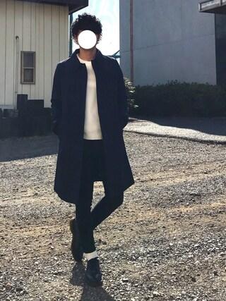 Hi-deさんの「【ZOZO限定】 STUDIOUS ミラノリブクルーネックニット - made in japan -(STUDIOUS|ステュディオス)」を使ったコーディネート