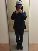 Toshiaki Nakamuraさんの「SHEARLING NECK WARMER(X-girl|エックスガール)」を使ったコーディネート