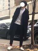 「MEN ソフトタッチタートルネックT(長袖)(ユニクロ)」 using this D looks