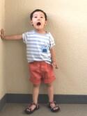 youtarokunさんの「BOYS イージーショートパンツ(ツイル)(ユニクロ ユニクロ)」を使ったコーディネート