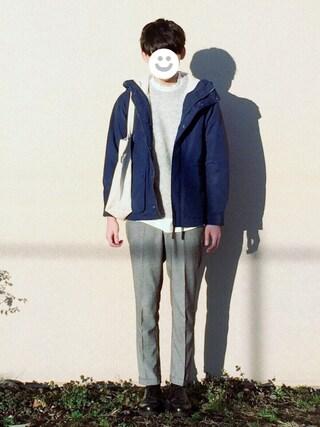 kitsuneさんの「【WEB限定】 BC★★2WAY ボアマウンテンパーカー(green label relaxing グリーンレーベルリラクシング)」を使ったコーディネート