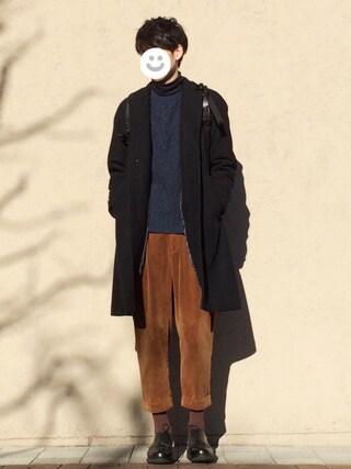 kitsuneさんの「BEAMS LIGHTS / ソフトメルトンチェスターコート(BEAMS LIGHTS Men's ビームスライツ メンズ)」を使ったコーディネート