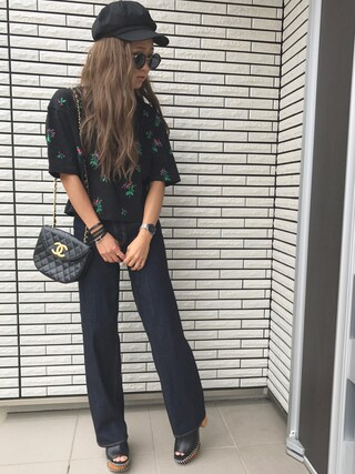 「FLOWER EMBROIDERY TSJ(MOUSSY)」 using this 12anna23 looks