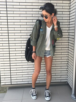 「WAPPEN BOX MILITARY SH(MOUSSY)」 using this 12anna23 looks