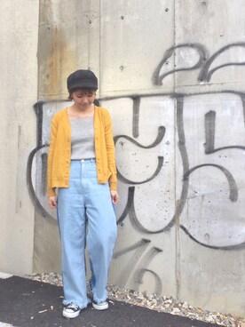 MILKFED. AT HEAVEN27 名古屋|杉本  奈々子さんの「HEART PATCH CARDIGAN(MILKFED.|ミルクフェド)」を使ったコーディネート