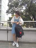 杉本  奈々子さんの「RUBBER COIN CASE(MILKFED.|ミルクフェド)」を使ったコーディネート
