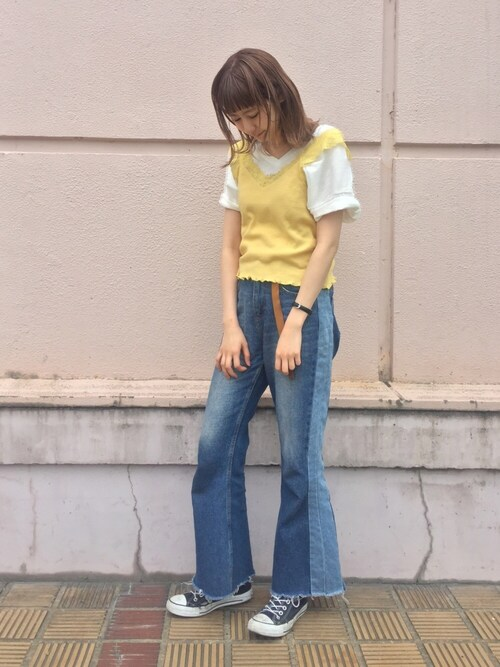 Kawasumi  Tomomiさんの「裾ゴムTee(Kastane)」を使ったコーディネート