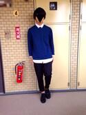 Kuromoさんの「プレーントゥシューズ/728876(RAGEBLUE|レイジブルー)」を使ったコーディネート