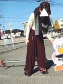 natsuさんの「UR FUR  SLIPPER(URBAN RESEARCH|アーバンリサーチ)」を使ったコーディネート