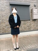 natsuさんの「JUPE 70S POCHES PLAQUEES(A.P.C.|アー・ペー・セー)」を使ったコーディネート