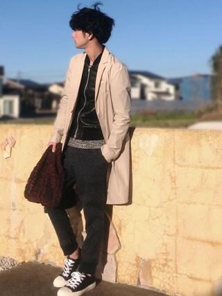 yoshiさんの「【おススメお買い得商品】一重チェスターフィールドコート(HIDEAWAYS NICOLE|ハイダウェイ ニコル)」を使ったコーディネート