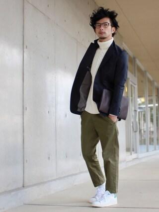 yoshiさんの「[アディダス] BC ADIDAS STANSMITH スニーカー(adidas originals|アディダスオリジナルス)」を使ったコーディネート