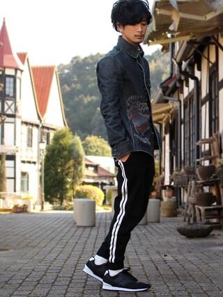 「Jan knit pants(glamb)」 using this yoshi looks