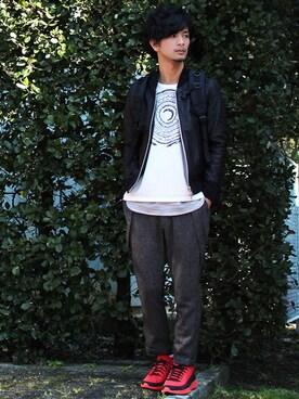 yoshiさんの「ADAM PATEK/ボックスバックパック(ADAM PATEK|アダムパテック)」を使ったコーディネート